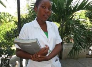 nurse holding a book