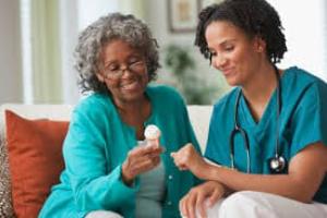 nurse and a woman